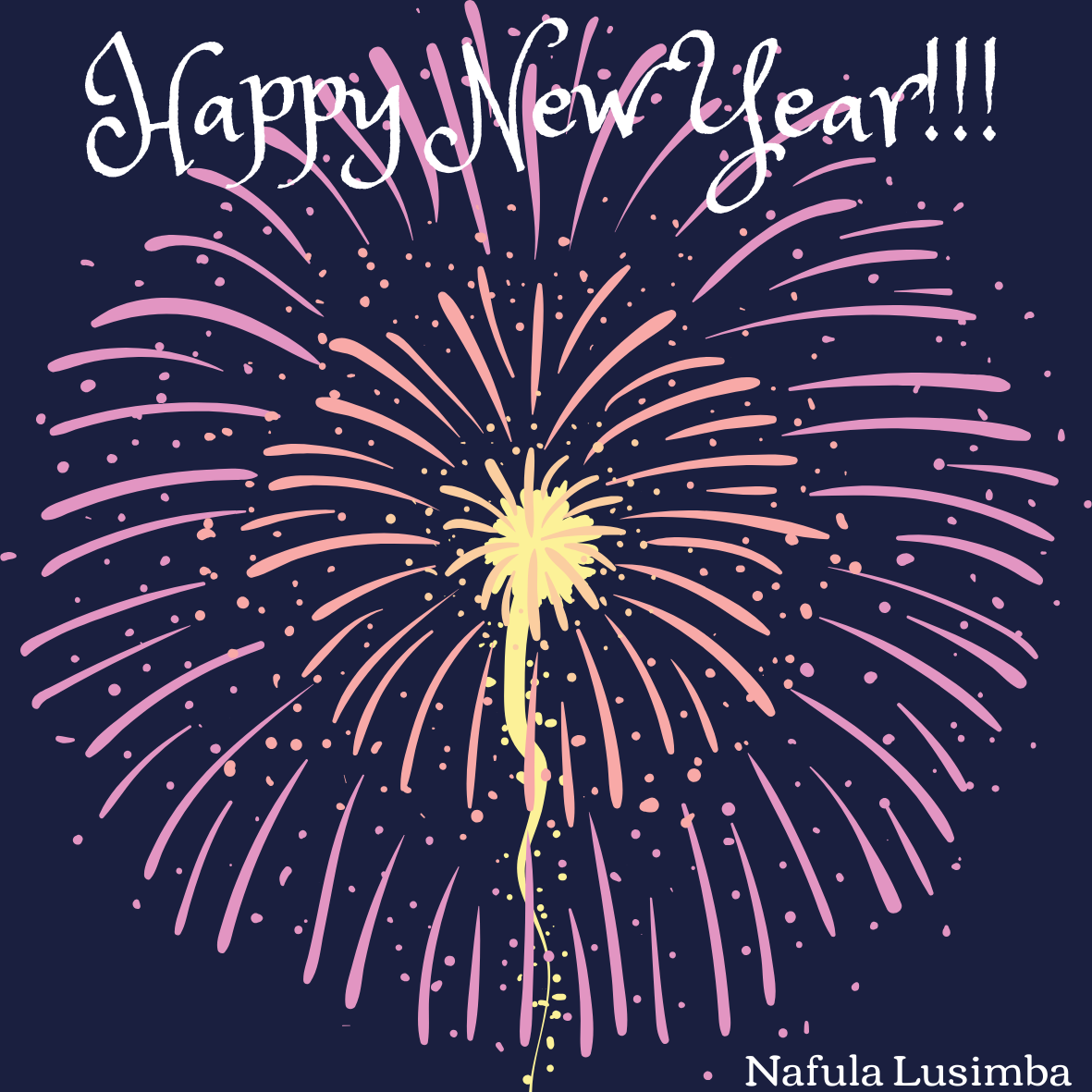 Purple Circle New Year Fireworks Laptop Sticker